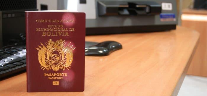 requisitos para un pasaporte en bolivia
