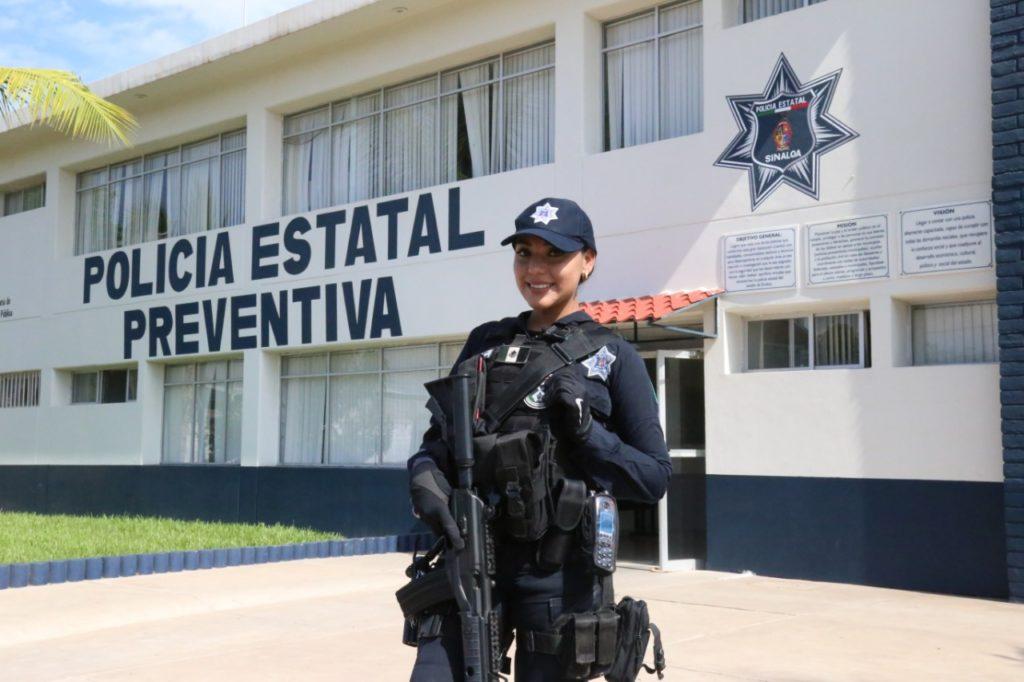 Policía Estatal en una Convocatoria