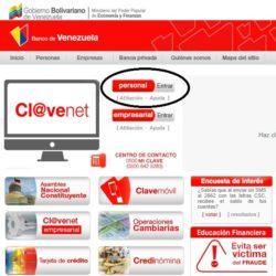 Preapertura de una cuenta en el Banco de Venezuela