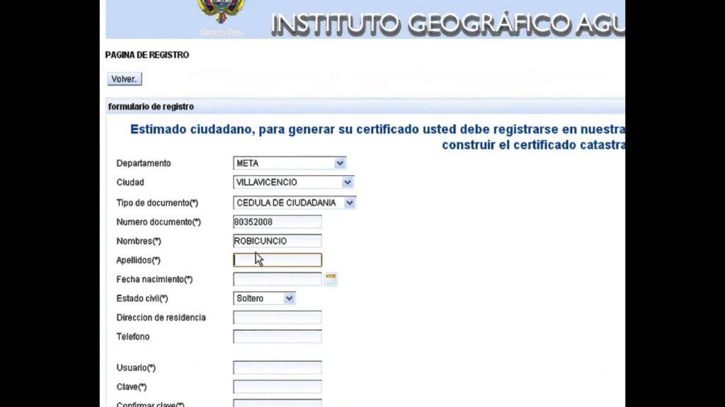 certificado catastral nacional