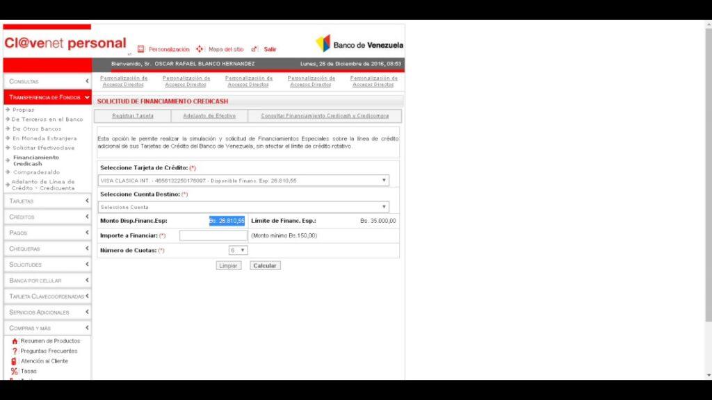 financiamiento especial Banco de Venezuela