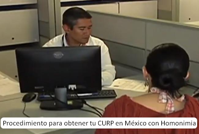 Procedimiento para obtener tu CURP en México con Homonimia