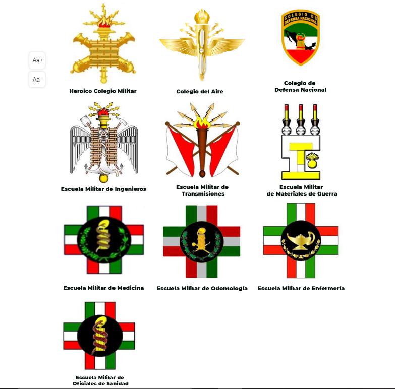 Planteles educativos para ingreso de personal civil y militar