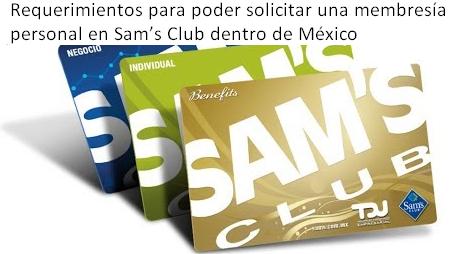 Requerimientos para poder solicitar una membresía personal en Sam's Club dentro de México