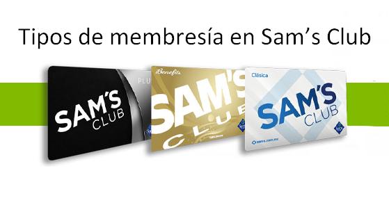 Tipos de membresía en Sam's Club