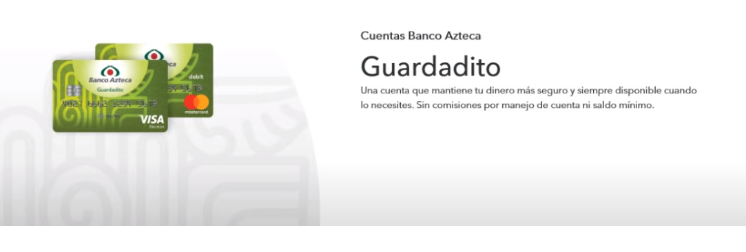 cuentas tarjeta de Guardadito pagina principal