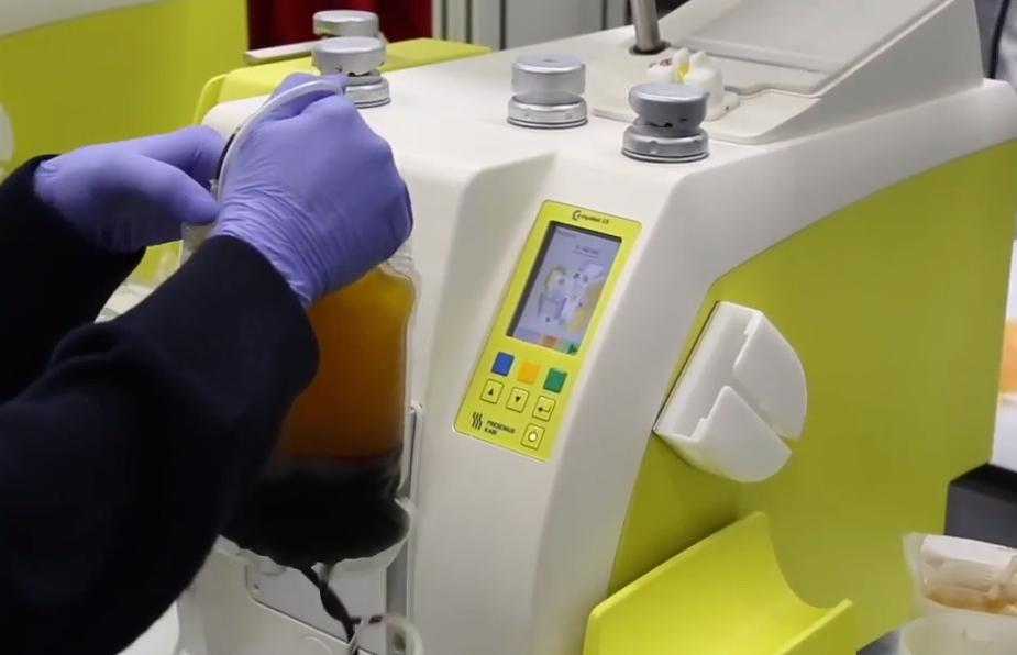 maquinas especiales en la donación de sangre