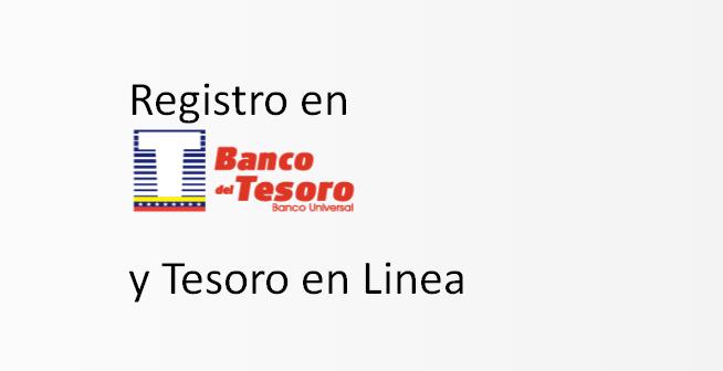 registro Banco del tesoro en Línea