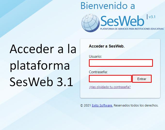 ingresar a la plataforma SesWeb 3.1