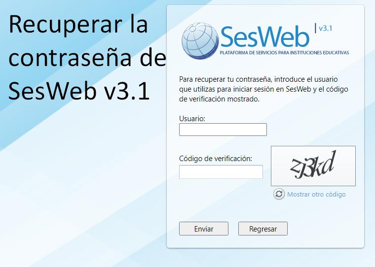 recuperar la contraseña de SesWeb v3,1