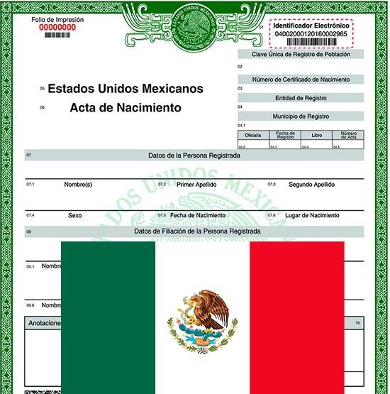 acta de nacimiento mexicana