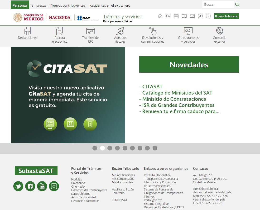 portal online del SAT