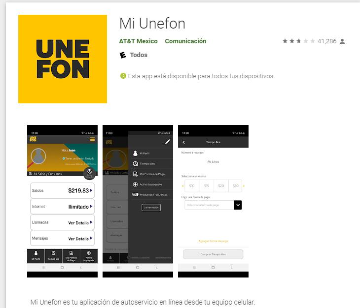 app Mi Unefon